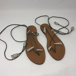 J.Crew Athena Leather Lace Up Sandals 8